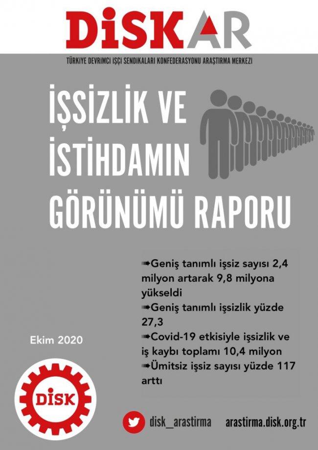 DİSK-AR: İşsizlik Düşmüyor, Artıyor!