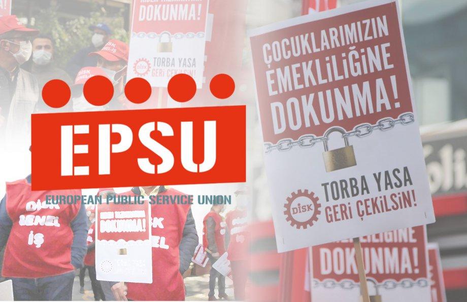 Torba Yasa'ya Karşı EPSU'dan Dayanışma Mesajı