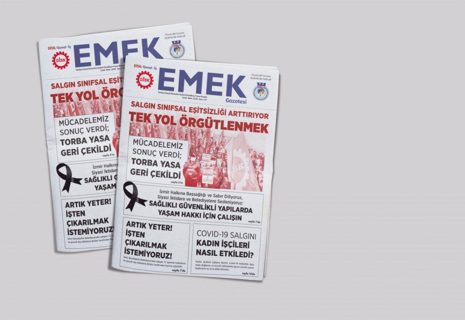 EMEK Gazete'sinin 167. Sayısı Çıktı