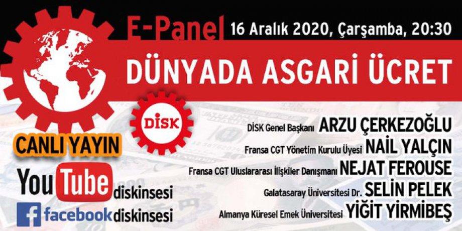 Dünyada Asgari Ücret E-Paneli