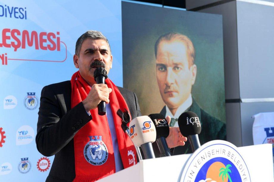 Mersin Yenişehir Belediyesi'nde Toplu İş Sözleşmesi İmzaladık