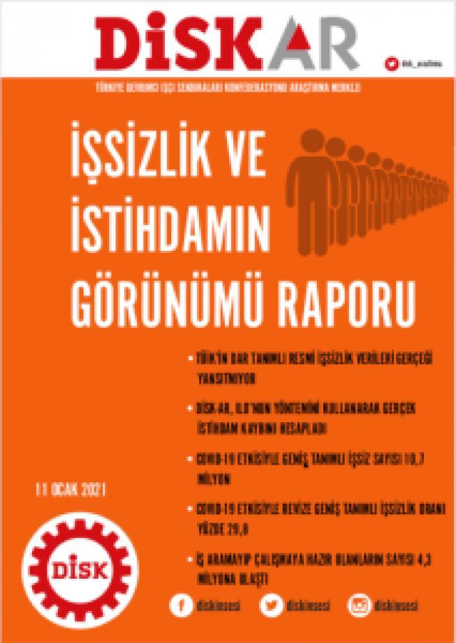 DİSK-AR: İşsiz Sayısı 10 Milyonu Aştı