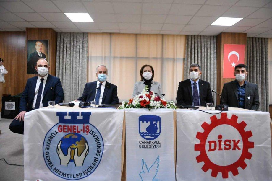 Çanakkale Belediyesi'nde Toplu İş Sözleşmesi İmzaladık