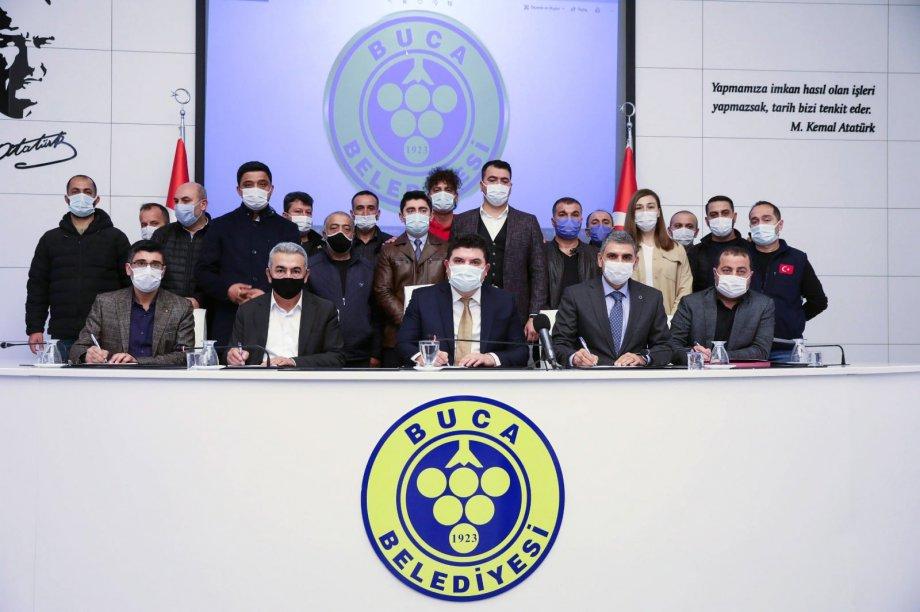 Buca Belediyesi'nde Toplu İş Sözleşmesi İmzaladık
