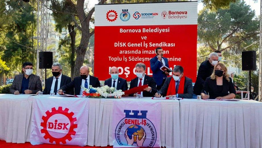 Bornova Belediyesi'nde Toplu İş Sözleşmesi İmzaladık