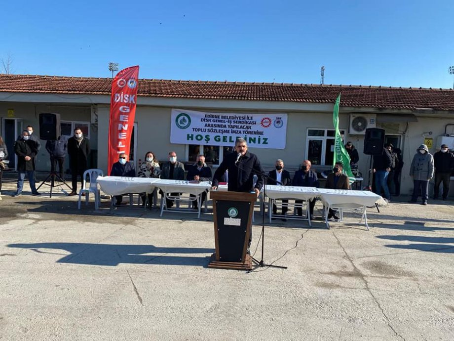 Edirne Belediyesi'nde Toplu İş Sözleşmesi İmzaladık
