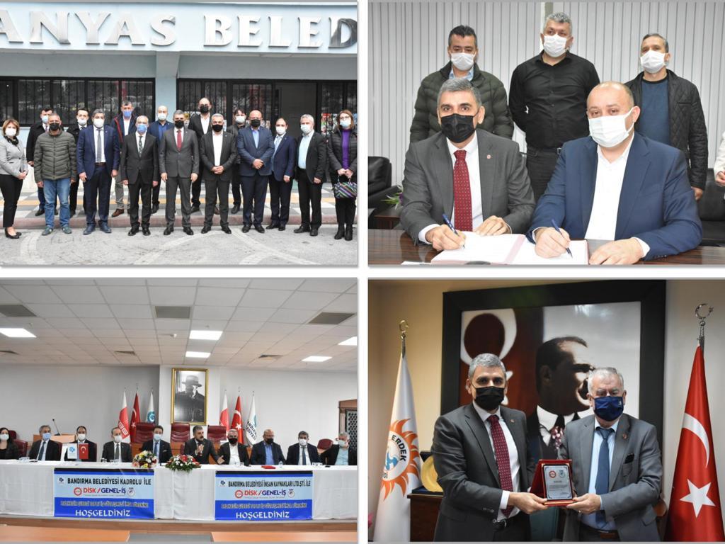 Manyas, Gönen, Erdek ve Bandırma Belediyelerinde Toplu İş Sözleşmeleri İmzaladık