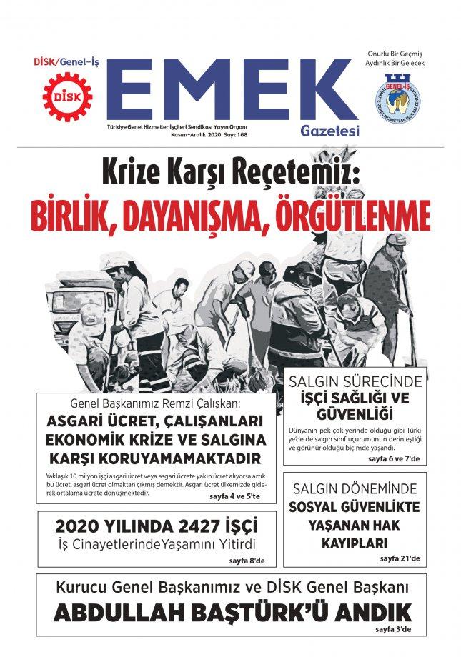 EMEK Gazete'sinin 168. Sayısı Çıktı