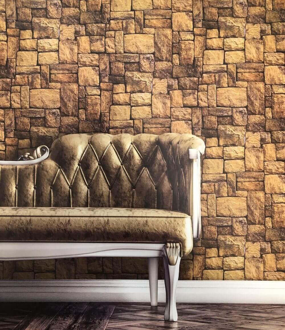 Tuğla Desenli 3D Duvar Kağıtları