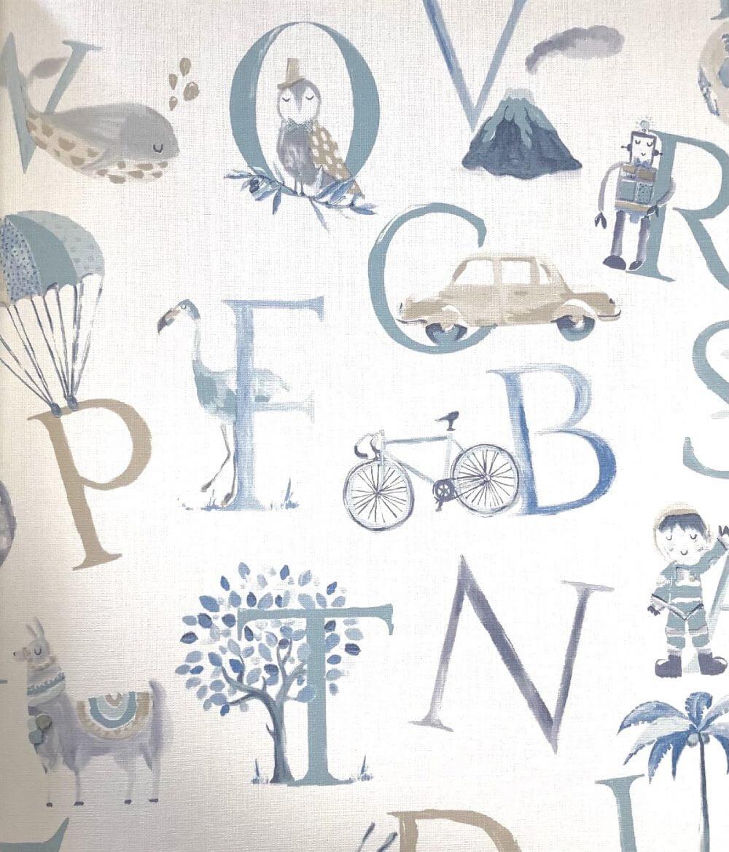 Harf Desenli Duvar Kağıtları