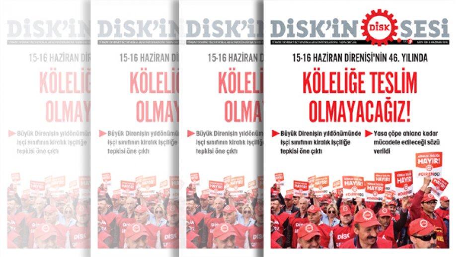 DİSK'in Sesi gazetesinin 180'inci sayısı çıktı